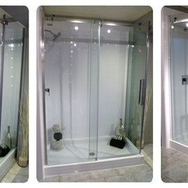 Double glass door shower